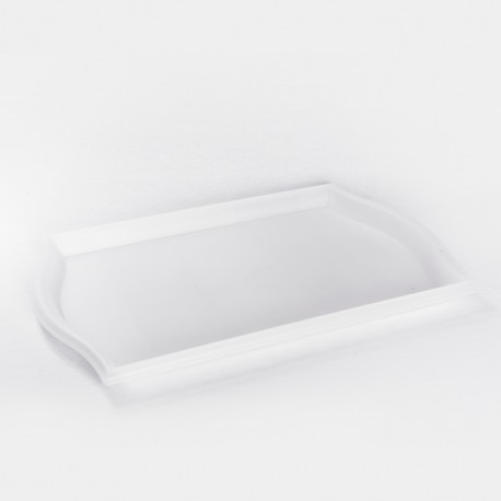 Plateau blanc transparent