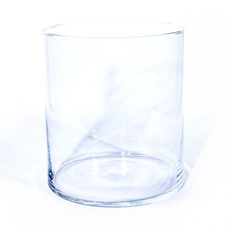 Vase cylindrique en verre h20xd19cm