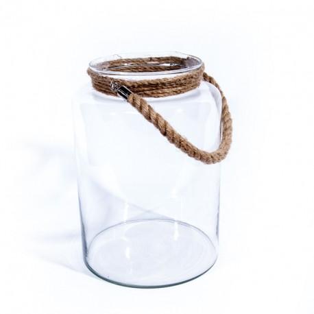 Lanterne verre cordée 24x34cm