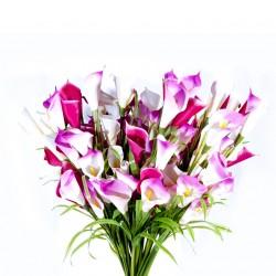 Fleur : Arum rose / Tige 91cm, artificielle
