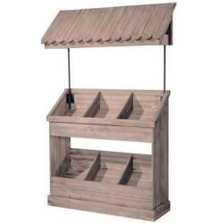 Comptoir en bois 6 cases + toit