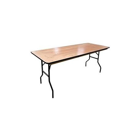 Table rectangle en bois 2x1x0,75m
