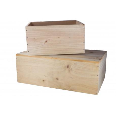 Caisse à vin en bois